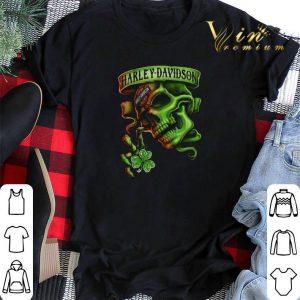 Skull Motor Harley Davidson Cycles St. Patrick's Day shirt sweater 1
