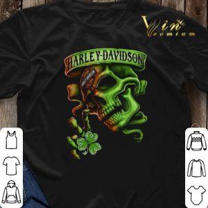 Skull Motor Harley Davidson Cycles St. Patrick's Day shirt sweater 2
