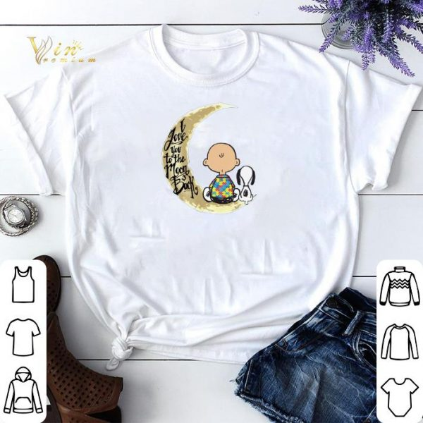 Snoopy Charlie Brown Autism I Love You To The Moon & Back shirt sweater