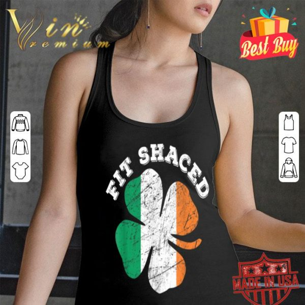 St Patrick's Day Beer Whiskey Drinking Fit Shaced Tshirt