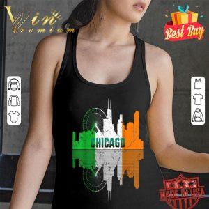 St Patricks Day Chicago IL City Irish Flag Shamrock Gift T-shirt