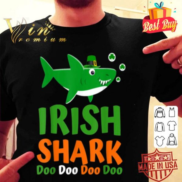 St Patricks Day Kids Toddler Women Men Irish Shark shirt