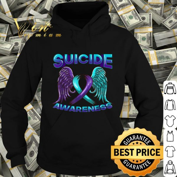 Suicide Awareness Wings and Ribbon Suicide Prevention shirt