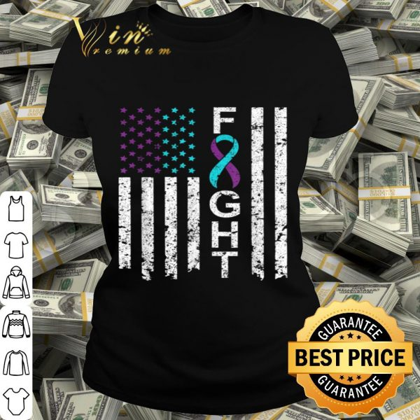Suicide Prevention Awareness American Flag Distress shirt