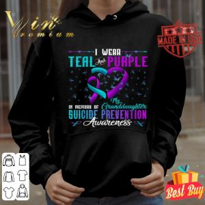 Teal Purple For Granddaughter Suicide Prevention Awareness shirt