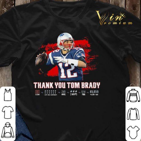Thank You Tom Brady Patriots Football 2020 shirt sweater