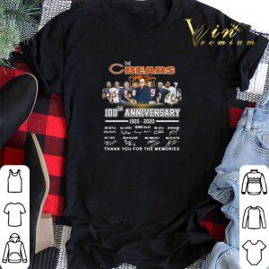 The Chicago Bears 100th Anniversary 1920-2020 signatures shirt sweater