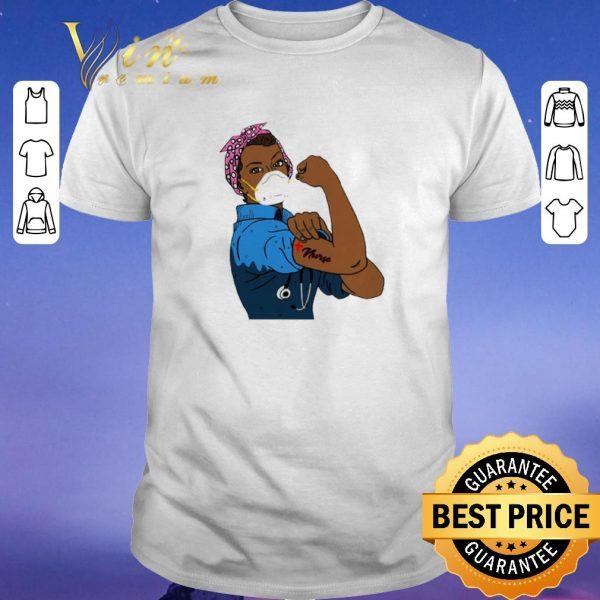 Top Black Strong Woman Mask Nurse Coronavirus shirt sweater