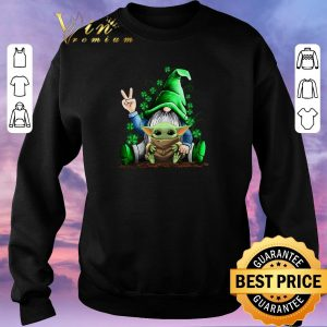 Top Gnome hug Baby Yoda Irish St. Patrick's day shirt sweater 2