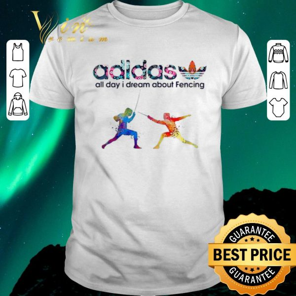 Top Logo Adidas All Day I Dream About Fencing shirt sweater