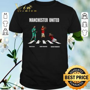 Top Manchester United players Abbey Road David Degea Bruno Fernandes shirt sweater