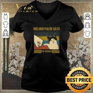 Top Melhor Paide gato do mundo vintage Fist bump shirt sweater