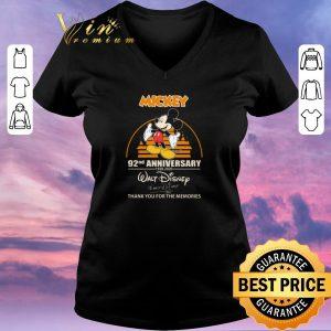Top Mickey mouse 92nd Anniversary 1928 2020 Walt Disney signature shirt sweater 1