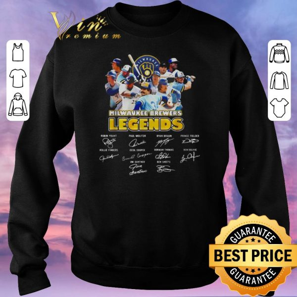 Top Milwaukee Brewers Logo legends signatures shirt sweater