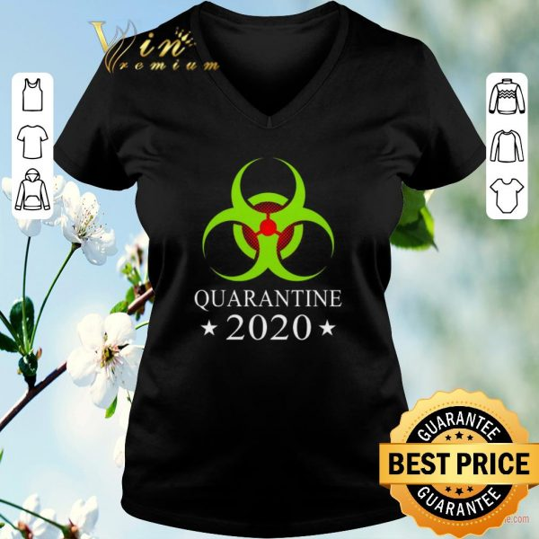Top Quarantine 2020 Bio Hazard Distressed Community Awareness shirt sweater
