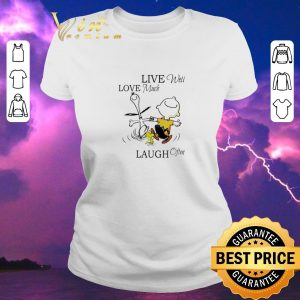 Top Snoopy and Charlie Brown live well love much laugh often shirt sweater 1