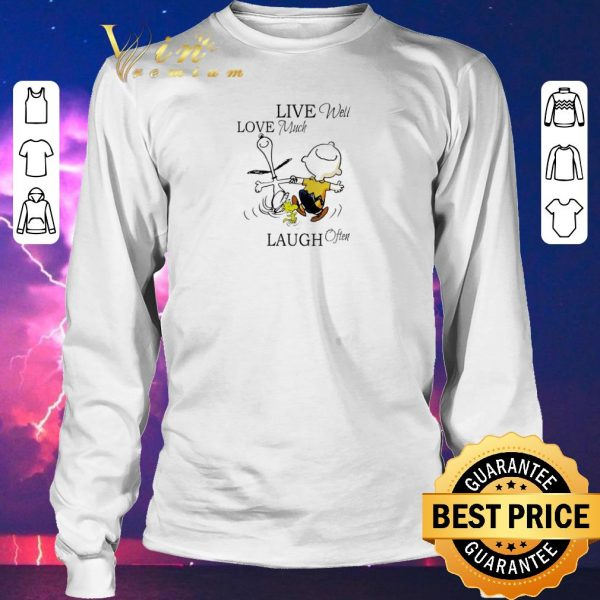 Top Snoopy and Charlie Brown live well love much laugh often shirt sweater