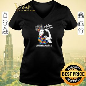 Top Strong girl Autism mom unbreakable shirt sweater