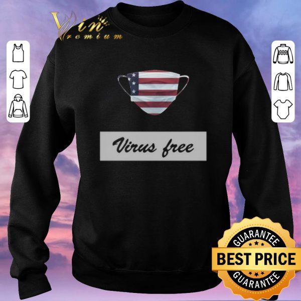 Top Virus Free American Flag Masks shirt sweater