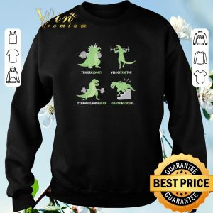 Top Weight Lifting Workout Dinosaur Tricerasquats Velocitraptor shirt sweater 2