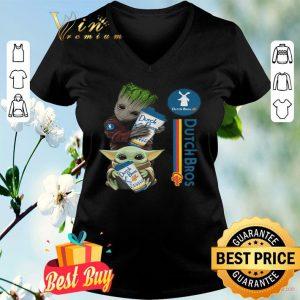 Baby Yoda And Baby Groot Hug Dutch Bros Coffee shirt