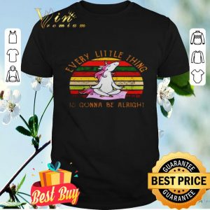 Every little thing is gonna be alright Unicorn yoga sunset shirt