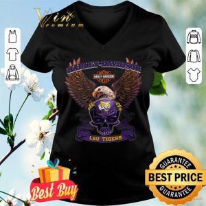 Skull Motor Harley Davidson Cycles LSU Tigers shirt