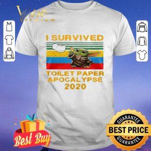 I Survived Toilet Paper Apocalypse 2020 Vintage Baby Yoda shirt