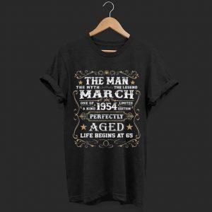 65th Birthday The Man Myth Legend March 1954 shirt