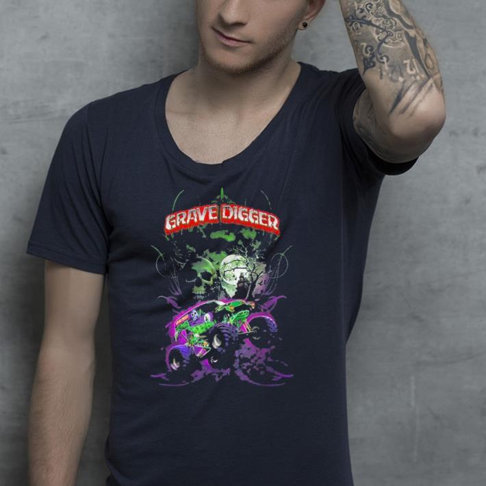 Grave Green Digger Monster Truck shirt 4 - Grave Green Digger Monster Truck shirt