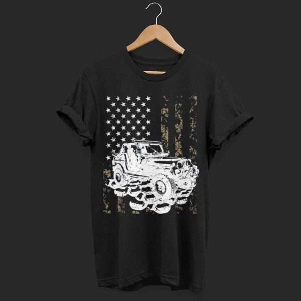 Jeeps Camouflage American Flag shirt