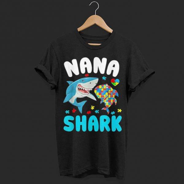 Nana Shark Autism Awareness shirt