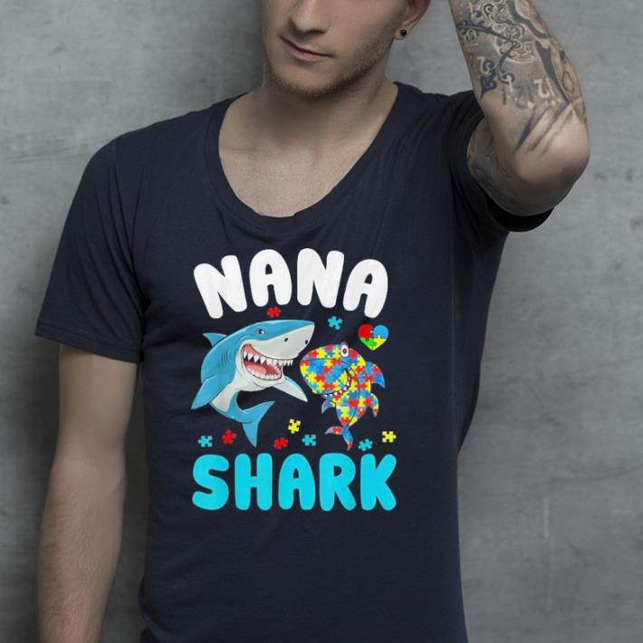 Nana Shark Autism Awareness shirt 4 - Nana Shark Autism Awareness shirt