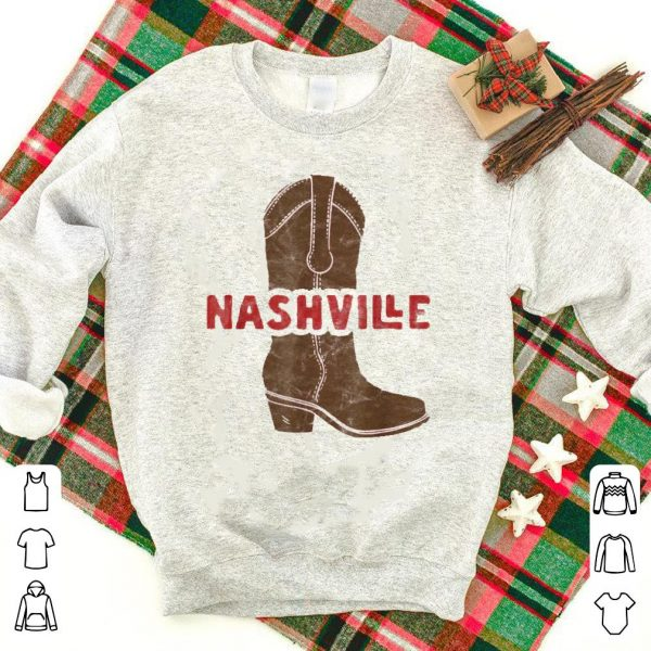 Nashville Tennessee Cowboy Boot Country Music shirt