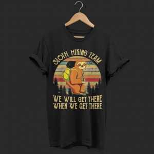 Sloth Hiking Team Vintage shirt