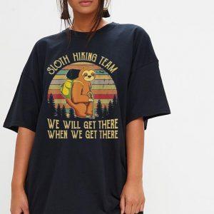Sloth Hiking Team Vintage shirt 2