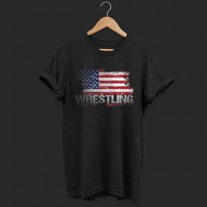 American Flag Wrestling amateur shirt
