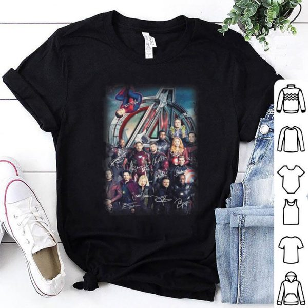 Avengers Endgame Character all signature shirt