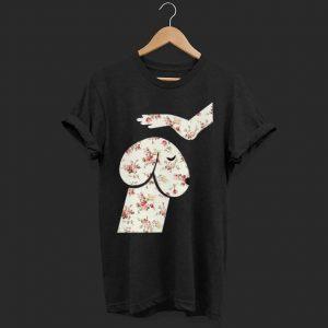 Hand and Dog flower texture shirt