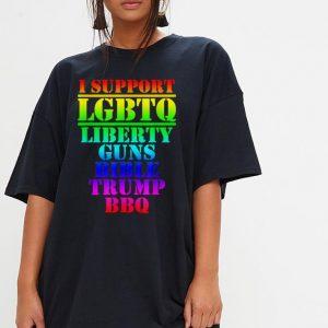 I Support LGBTQ Liberty Guns Bible Trump shirt 2