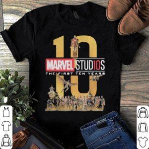 Marvel Studios First Ten Years Full Cast Graphic shirt