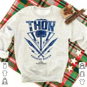 Marvel Thor Ragnarok Asgardian Warrior Hammer Shield shirt