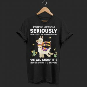 People Should Stop Expecting Normal From Me Llama shirt