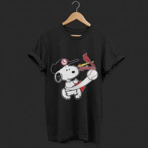 Snoopy play baseball cardinals team shirt