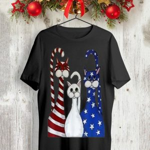 Cat American Flag Patriotic shirt