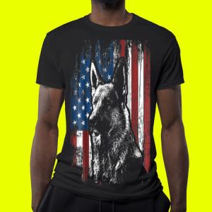 German Shepherd American Flag shirt 3