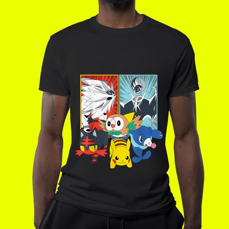 Alola Starters With Legendaries shirt 4 - Alola Starters With Legendaries shirt