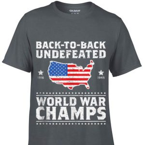 Back To Back Undefeated World War Champs American Flag shirt