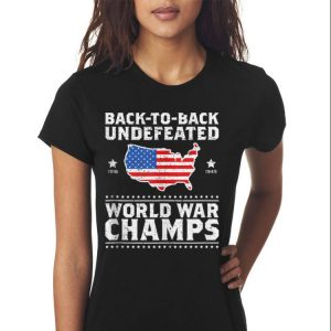 Back To Back Undefeated World War Champs American Flag shirt 2