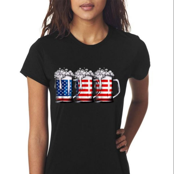 Beer American Flag shirt